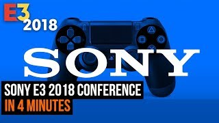 Sony E3 2018 conference In 4 minutes