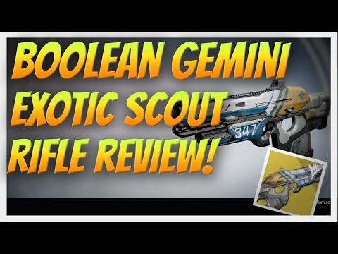 I got it!! BOOLEAN GEMINI! Exotic Scout Rifle Review. How to get the Lost & Found Exotic Quest.