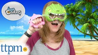 Aqua Creatures Pink Shark Squirterz and Crocodile Swim Mask from Amloid