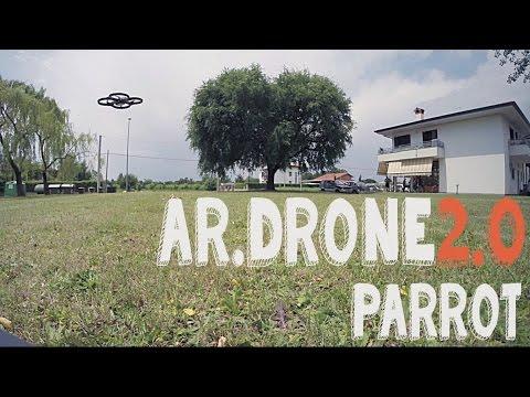 Drone Parrot AR.Drone 2.0 quadricottero ita: filmato con GoPro