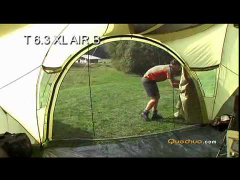 Quechua t6 3 xl air b youtube for Living room quechua