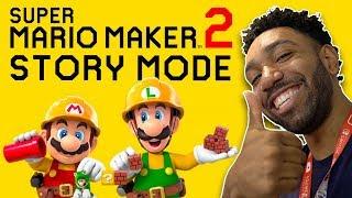 8 minutes of Super Mario Maker 2 Story Mode Gameplay | runJDrun