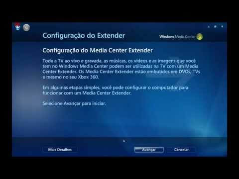Configurando o Windows Media Center no Xbox 360
