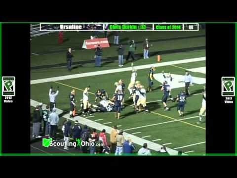 2014 Christopher Durkin - Ursuline - QB13 - Jr yr - PROMO