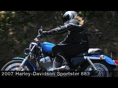 2007 Harley-Davidson XL 883 Sportster First Ride - MotoUSA