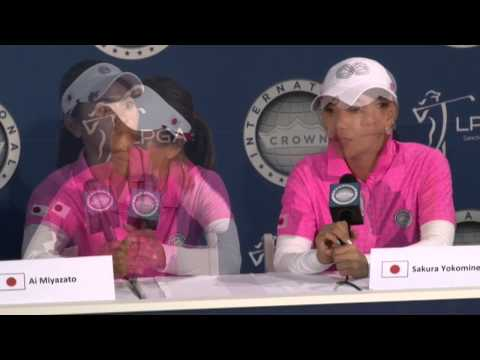 Japan's Ai Miyazato and Sakura Yokomine win 2 up over Sweden's Lindberg and Parmlid