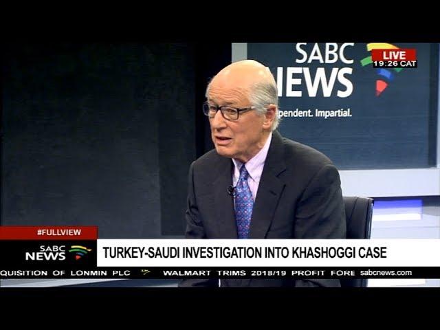 Disappearance of Saudi Arabia journalist Jamal Khashoggi: Prof. John Stremlau