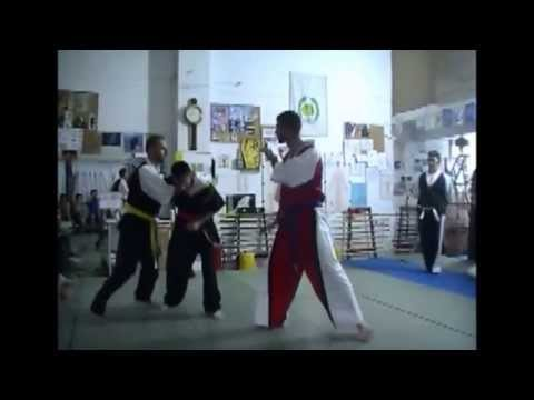Hwarang Do Fight Demonstration 1 VS 2 @ Tasos Zervas Martial Art Center Image 1