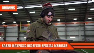 Baker Receives Special Message from Fan | Cleveland Browns