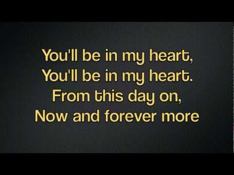 You'll Be in My Heart- Phil Collins (Jacob Damsky Cover) with Lyrics