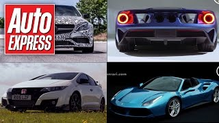 Ferrari 488 Spider revealed, Ford GT & Mustang details - Car news in 90 secs