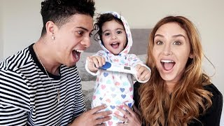 Mommy And Daughter Surprise Daddy With Pregnancy Announcement Speechless