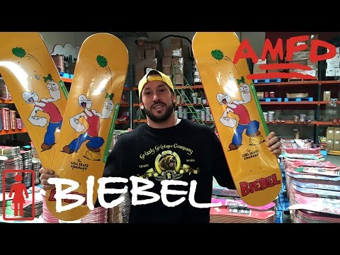 AMFD GIVEAWAY + RE-UP at Girl Skateboards | Brandon Biebel