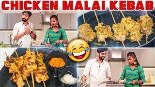 CHICKEN MALAI KEBAB - Innaiku Enna Samayal With Galatta | Sunitha |  Vj Venkat