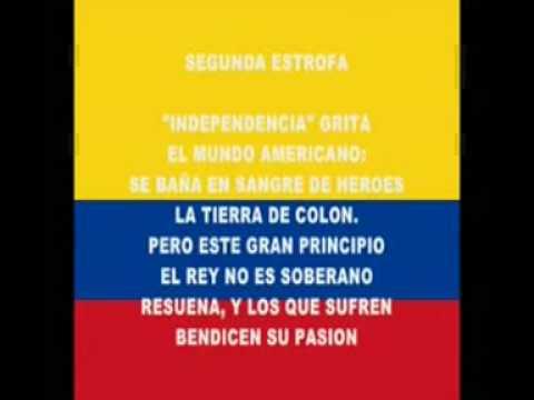 Himno nacional de la rep blica de colombia oficial for Al jardin de la republica letra
