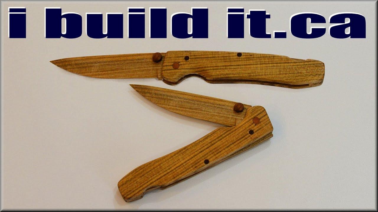 Wooden Pocket Knife - YouTube