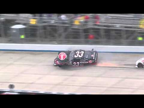 2011 Clint Bowyer Joey Logano HARD Crash NNS 5-Hour Energy 200,Dover