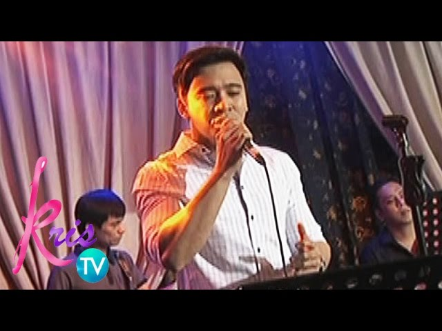 "Kris TV: Erik Santos sings ""God Gave Me You"""