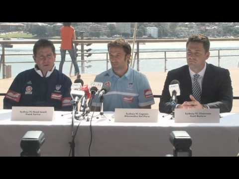Alessandro Del Piero Is Announced As The New Captain Of Sydney FC