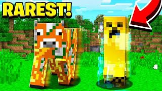 10 RAREST THINGS THAT HAPPEN IN MINECRAFT!