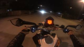 KTM Duke 200 WHEELIE and Night Ride