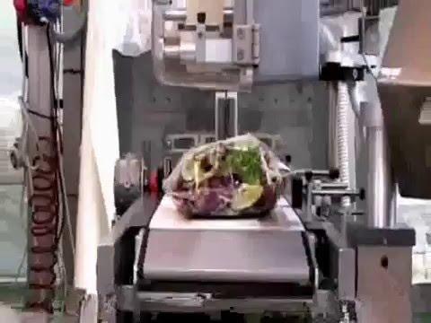 Упаковка взвешивание этикетировка листьев салата