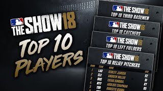 Top 10 Players at Each Position in MLB The Show 18