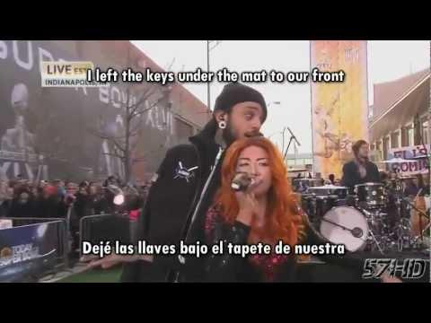Gym Class Heroes Ft. Neon Hitch - Ass Back Home Live Subtitulado Español English Lyrics video