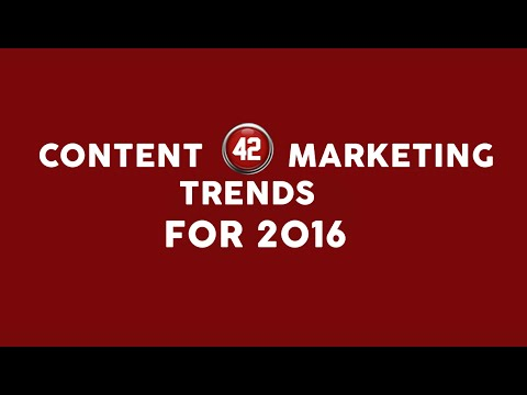 Content Marketing Trends - Predictions for 2016 - The Data Story Show #4