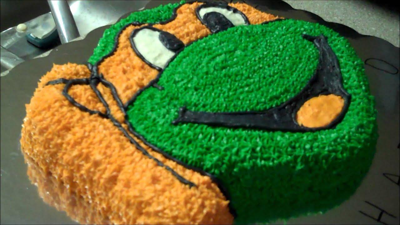 Ninja Turtle Head Cake Ninja Turtle Cake