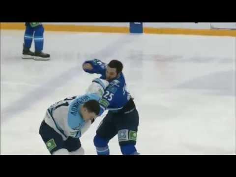 Бой КХЛ: Рыспаев VS Меньшиков / KHL Fight: Ryspayev VS Menshikov