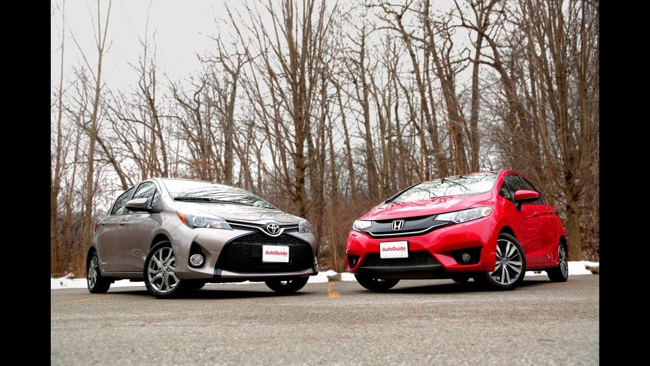 2015 Honda Fit vs. 2015 Toyota Yaris - YouTube