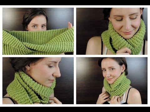 Как связать шарф хомут крючком по видео