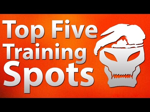 'TOP 5' Best Training Spots in Call of Duty 'Zombies' - Black Ops 2 'B...