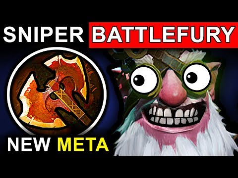 BATTLEFURY SNIPER - DOTA 2 PATCH 7.07 NEW META PRO GAMEPLAY