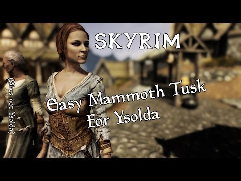 Mammoth Skyrim Tusk Skyrim Where to Find a Mammoth