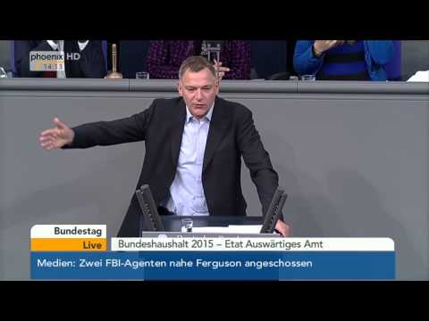 Bundestag: Debatte zum Etat des Auswärtigen Amtes mit Frank-Walter Steinmeier am 26.11.2014