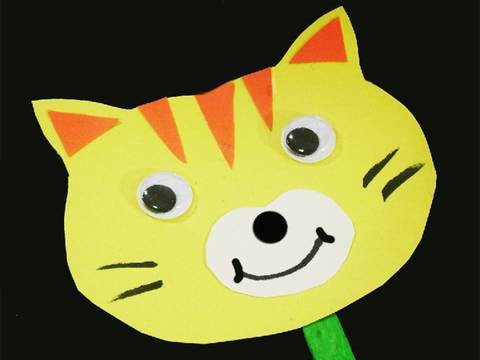 Easy Paper Kids Crafts: cat