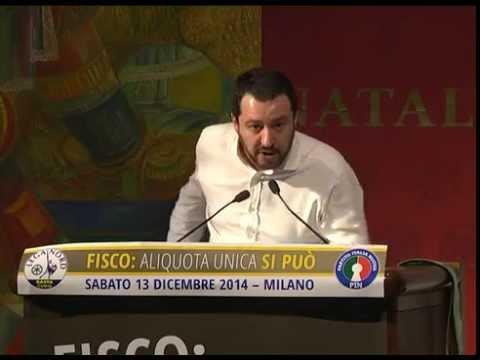 Aliquota unica si può - Salvini si toglie la giacca e mette la felpa unione ciechi