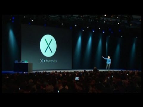 Apple s Tim Cook Introduces Mac OS X Maverick at WWDC