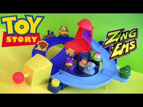 Zing Ems Rocket Rumble Playset Toy Story 3 Buzz Woody Jessie Toys Review Disneycollectorbr video