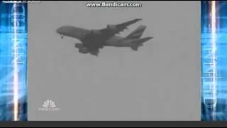 plane caught on tape as its struck by lightning over heathrow