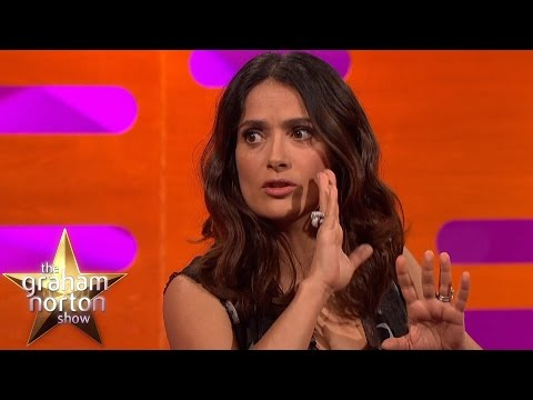Salma Hayek Can't Believe The Weird Tattoo Danny Trejo Has - The Graham Norton Show