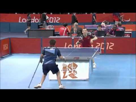 Incrível jogada no Ping Pong Paraolímpico