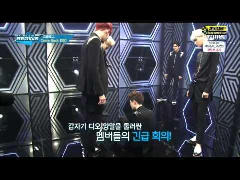 Full HD Live EXO K Overdose Backstage Mcountdown 140508 리허설 현장   YouTube
