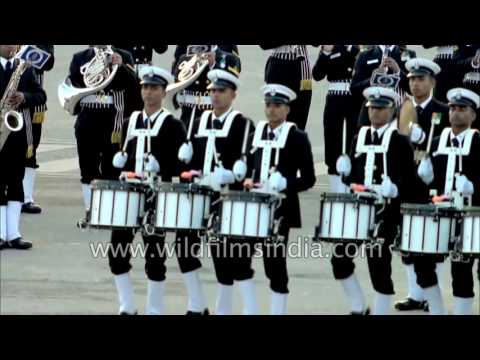 Indian Navy and Air Force bands create rhythm and melody at Beating Retreat ceremony