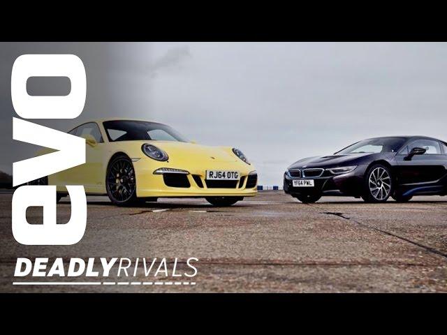 BMW i8 v Porsche 911 | evo DEADLY RIVALS - YouTube