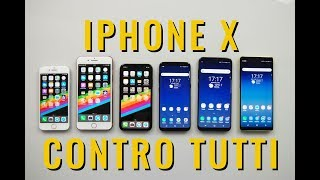 CONFRONTO iPhone X contro Galaxy S8 Note 8 iPhone 8 e iPhone 8 plus