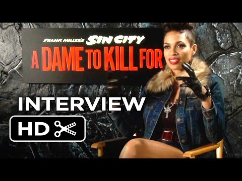 Sin City: A Dame To Kill For Interview - Rosario Dawson (2014) - Robert Rodriguez Movie HD