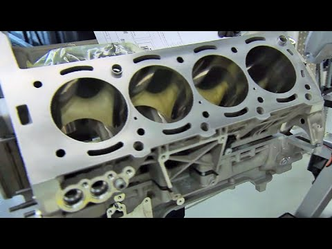 Mercedes Benz AMG 63 Engine production